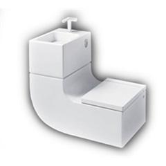 Bacia com Caixa, Lavatório, Misturador E Assento - Roca