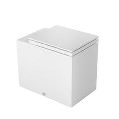 Bacia Convencional Cubo com Assento Branco E Cromado - Deca