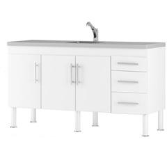 Balcao Cozinha Flex 1,44 Metros Branco - MGM Móveis
