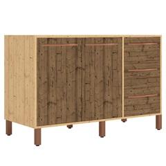 Balcão em Mdp para Pia de Cozinha sem Tampo 120x80cm Pinus Natural - Albatroz