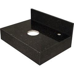 Bancada de Granito para Banheiro 60x44cm Preto São Gabriel - Venturini