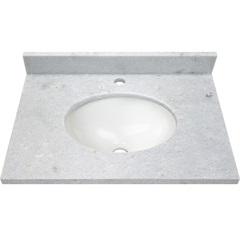 Bancada de Mármore para Banheiro com Cuba Light 60x44cm Branca - Venturini