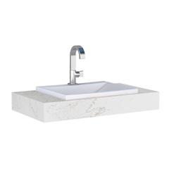 Bancada Suspensa Arati 80 de 80x45cm Branco - Cozimax