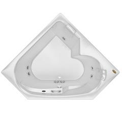 Banheira Quadrada com Aquecedor 5 Jatos Bionda P2 152x152cm Branca - Jacuzzi