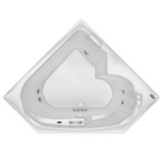 Banheira Quadrada sem Aquecedor 5 Jatos Bionda P2 152x152cm Branca - Jacuzzi