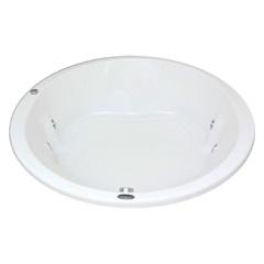 Banheira Redonda sem Aquecedor 10 Jatos Vitoriacril 150cm Branca - Ouro Fino