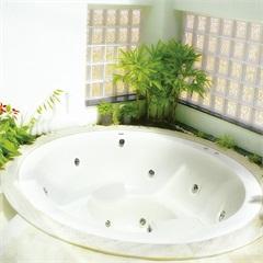 Banheira Redonda sem Aquecedor 6 Jatos Therma Caribe 228x228cm Branca - Ouro Fino