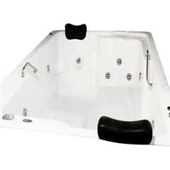 Banheira Retangular com Aquecedor 16 Jatos Topcril 201x151cm Branca - Ouro Fino