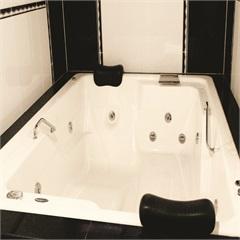 Banheira Retangular com Aquecedor 16 Jatos Topcril Premium 201x151cm Branca - Ouro Fino