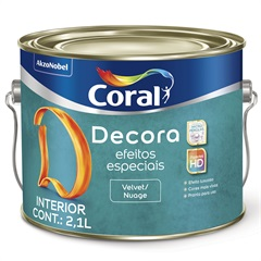 Base Decora Efeitos Especiais Velvet E Nuage 2,1 Litros - Coral