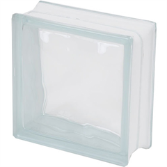 Bloco de Vidro Ondulado 19x19cm Transparente