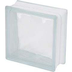 Bloco de Vidro Ondulado Sky 19x19cm Transparente