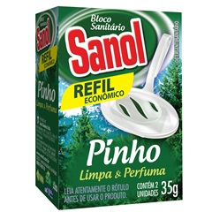 Bloco Sanitário Pinho Refil Econômico 35g - Total Química