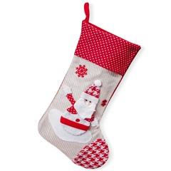Bota Papai Noel Tradicional 50cm Vermelha - Casa Etna