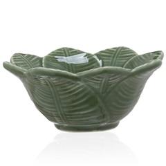 Bowl em Cerâmica Leaves 15cm Verde - Casa Etna