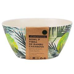 Bowl em Fibra de Bambu 14cm Bege E Verde - Casanova