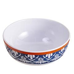 Bowl em Melamina Beades 16m Branco E Azul - Casa Etna