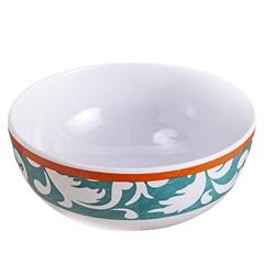 Bowl em Melamina Edge 16m Branco E Verde - Casa Etna