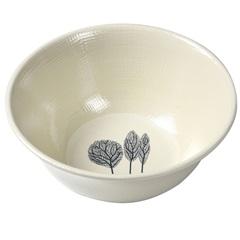 Bowl Folhas 15cm Bege E Cinza - Casanova
