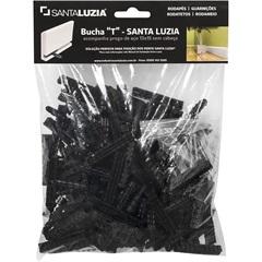Bucha Preta 5mm 30 Peças - Santa Luzia