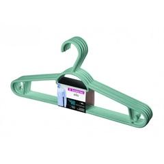 Cabide em Plástico Pendura Mais Verde Claro com 6 Peças - Sanremo