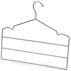 Cabide Triplo para Calça em Aço Cromado - Arthi