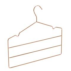 Cabide Triplo para Calças com Cavas Rosé Gold - Arthi