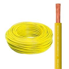 Cabo de Energia 750v 1,5mm² Flexicom Antichama com 100 Metros Amarelo