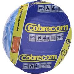Cabo de Energia 750v 1,5mm² Flexicom Antichama com 50 Metros Azul - Cobrecom