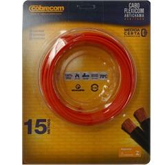 Cabo de Energia 750v 2,5mm² Flexicom Antichama com 15 Metros Vermelho - Cobrecom
