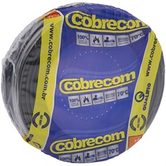 Cabo de Energia 750v 2,5mm² Flexicom com 50 Metros Preto - Cobrecom