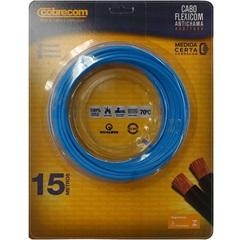 Cabo de Energia 750v 4mm² Flexicom Antichama com 15 Metros Azul - Cobrecom