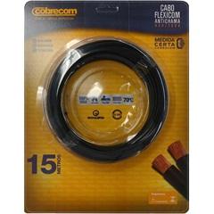 Cabo de Energia 750v 4mm² Flexicom Antichama com 15 Metros Preto - Cobrecom