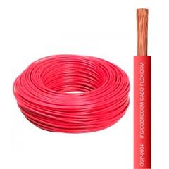 Cabo de Energia 750v 4mm² Flexicom Antichama com 50 Metros Vermelho - Cobrecom