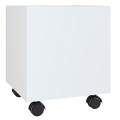 Cachepot Carter Multiuso com Rodízios Branco 35,7x30x30cm - Estilare Móveis
