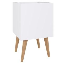 Cachepot Chante Multiuso com Pé Inclinado Branco 50x30x30cm - Estilare Móveis