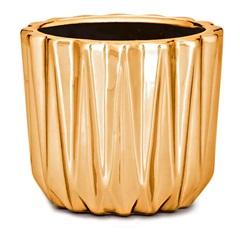Cachepot em Cerâmica 7x8cm Dourado - Mart