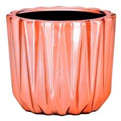 Cachepot em Cerâmica 7x8cm Rose Gold - Mart