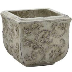 Cachepot em Cerâmica Oval 28,5x12cm Dourado - Importado
