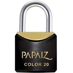 Cadeado em Latão Color Line 20mm Preto - Papaiz