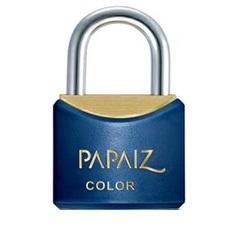 Cadeado em Latão Color Line 25mm Azul - Papaiz