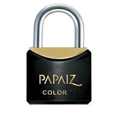 Cadeado Latão Cr25sm Preto Color Line - Papaiz