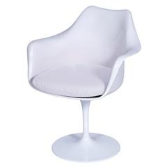 Cadeira Almofadada com Braços Saarinen Branca - Ór Design
