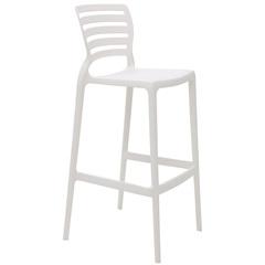 Cadeira Alta em Polipropileno Sofia 104,5x49,5x47cm Branca - Tramontina