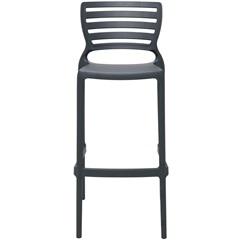 Cadeira Alta em Polipropileno Sofia 104,5x49,5x47cm Grafite - Tramontina