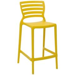 Cadeira Alta em Polipropileno Sofia 93,5x48x47cm Amarela - Tramontina