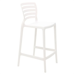 Cadeira Alta em Polipropileno Sofia 93,5x48x47cm Branca - Tramontina