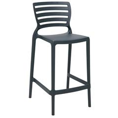 Cadeira Alta em Polipropileno Sofia 93,5x48x47cm Grafite - Tramontina