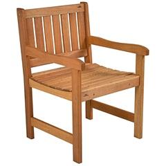 Cadeira com Braços em Madeira para Jardim 45x58cm Natural - Metalnew