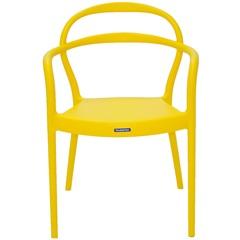 Cadeira com Braços em Polipropileno Sissi 79x58x51,5cm Amarela - Tramontina